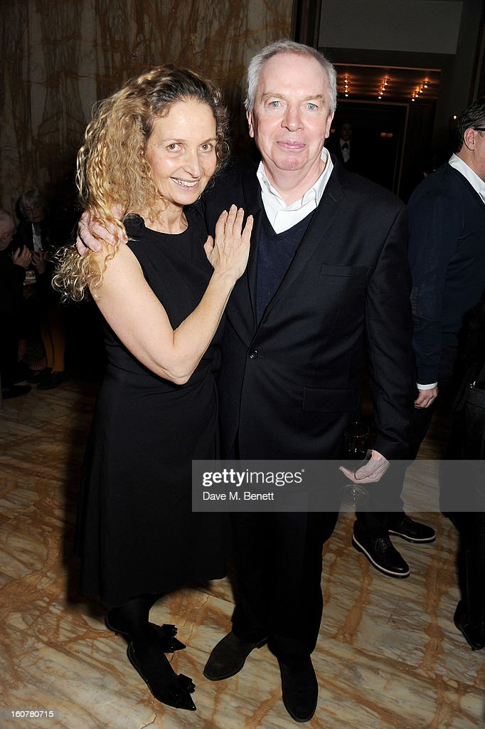 Evelyn Stern (L) and Sir <a gi-track='captionPersonalityLinkClicked' href=/galleries/search?phrase=David+Chipperfield&family=editorial&specificpeople=2103568 ng-click='$event.stopPropagation()'>David Chipperfield</a> attend a reception hosted by Sir <a gi-track='captionPersonalityLinkClicked' href=/galleries/search?phrase=David+Chipperfield&family=editorial&specificpeople=2103568 ng-click='$event.stopPropagation()'>David Chipperfield</a> to celebrate the awarding of the RIBA Royal Gold Medal to Swiss architect Peter Zumthor at the Cafe Royal Hotel on February 5, 2013 in London, England.