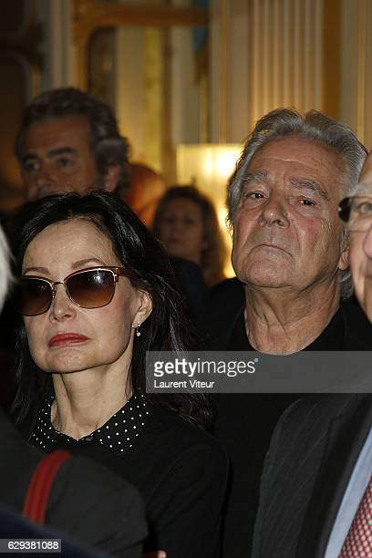 Evelyne Bouix and Pierre Arditi attend the Ceremony of Actor Hugues Quester Actress Catherine Arditi and Manager of Theater Pascale BoeglinRodier...