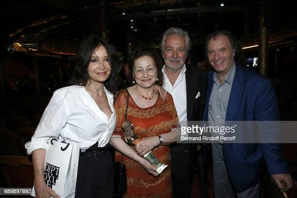 Evelyne Bouix Catherine Arditi Pierre Arditi and Daniel Russo attend 'La Nuit des Molieres 2017' at Folies Bergeres on May 29 2017 in Paris France