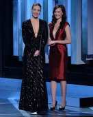 Evelyne Brochu and Cara Gee present at the 2014 Canadian Screen Awards at Sony Centre for the Performing Arts on March 9 2014 in Toronto Canada