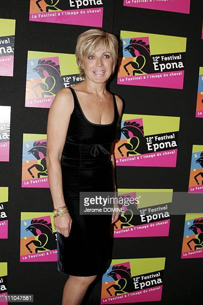 Evelyne Dheliat at the 12th EPONA Festival film festival of the horse on television in Cabourg France On October 08th 2005
