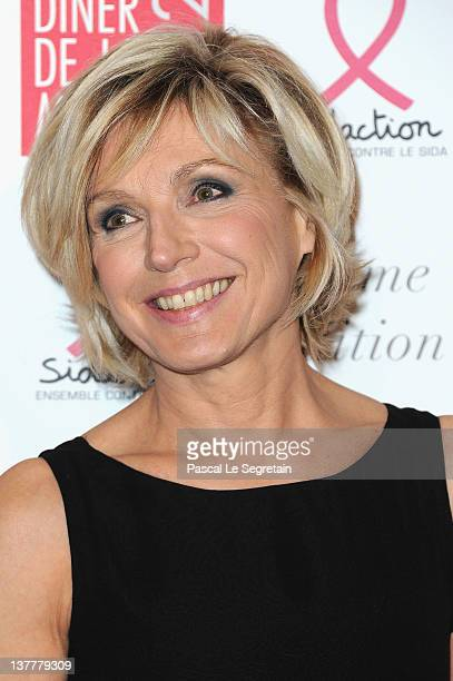 Evelyne Dheliat attends the Sidaction Gala Dinner 2012 at Pavillon d'Armenonville on January 26 2012 in Paris France