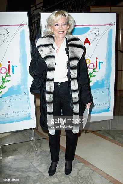 Evelyne Leclercq attends the 'Gala de l'Espoir' hosts by the Ligue Contre Le Cancer at Theatre des ChampsElysees on November 19 2013 in Paris France