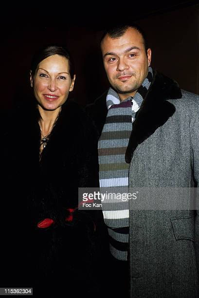 Evelyne Thomas and Christophe during Basile de Koch Birthday Party at Club De L'Etoile in Paris France