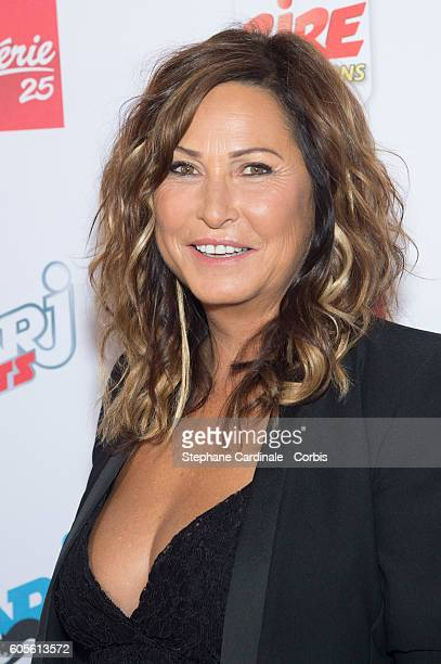 Evelyne Thomas poses at the Photocall of NRJ Group at Musee du Quai Branly on September 14 2016 in Paris France