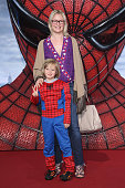 EveMaren Buechner and her son Jack attend the Germany premiere of 'The Amazing SpiderMan' at Sony Center on June 20 2012 in Berlin Germany