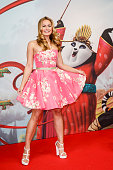 EveMaren Buechner and kids attends the 'Kung Fu Panda 3' German Premiere at Zoo Palace on March 02 2016 in Berlin Germany