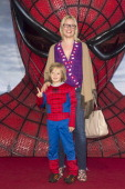 'BERLIN GERMANY JUNE 20 EveMaren Buechner and son Jack attend the Germany premiere of ''The Amazing SpiderMan'' at Sony Center on June 20 2012 in...