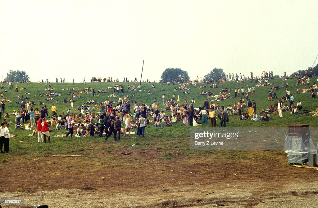 Even before the construction crews, concert attendees and fans began to arrive at the farm for the the Woodstock Music and Arts Fair in Bethel, New York, August 15 - 17 (and part of the 18th), 1969.