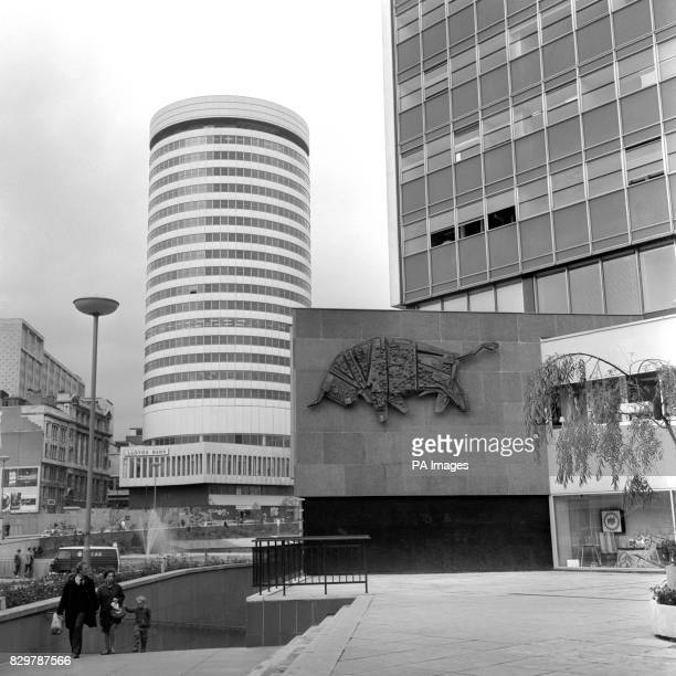 Even if you fail to recognise the circular building the figure on the wall should give you a clue it's the sign of the bull a piece of mural art at...