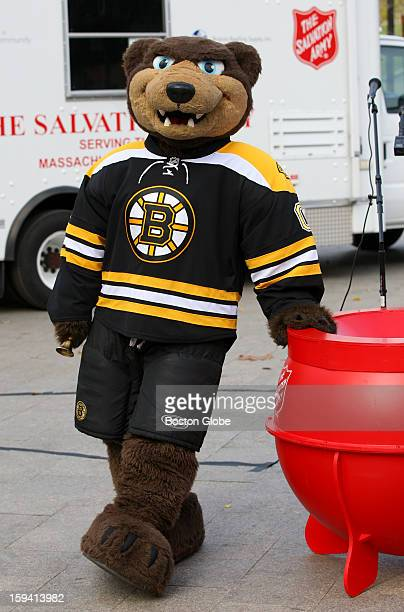 Even the Boston Bruins mascot Blades showed up to give a ring as the Salvation Army of Massachusetts kicks off its 2012 Red Kettle campaign by Brewer...