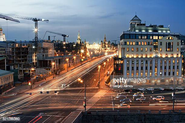 Evening activity of Moscow center