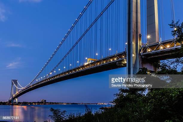 Evening at Verrazano-Narrows Bridge