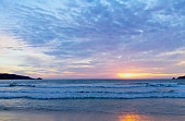 the sea sunrise at Patong beach thailand