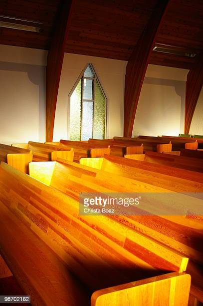 Evening Church Pews