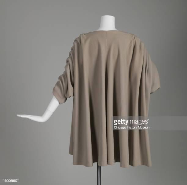 Evening coat 1950 Wool gabardine silk taffeta by Cristobal Balenciaga