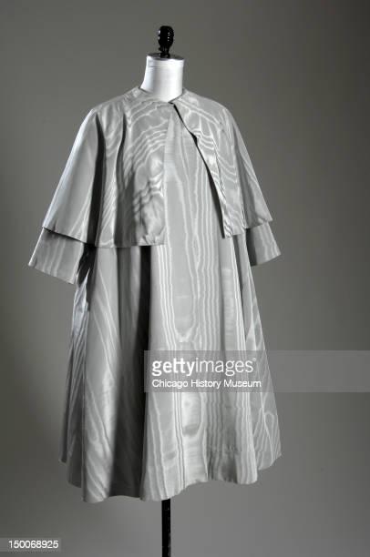 Evening coat ca 1950 Silk moire by Cristobal Balenciaga