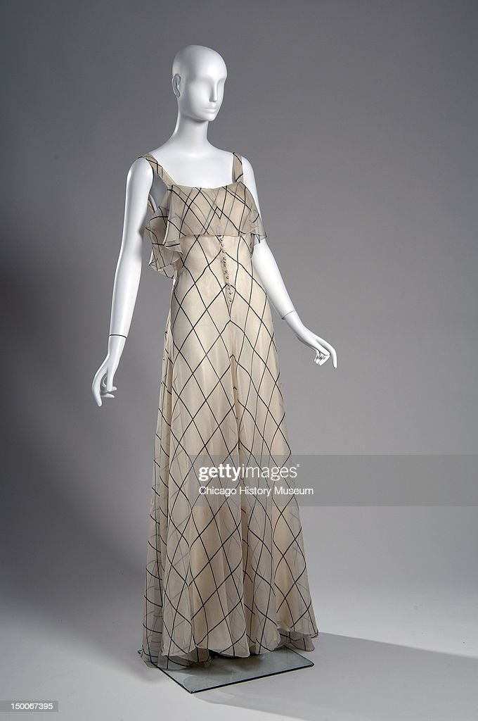 Evening dress 1934 Silk organdy by Valentina