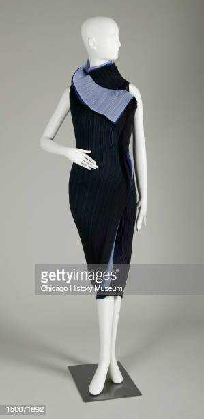 Evening dress 2008 Pleated polyester by Issey Miyake
