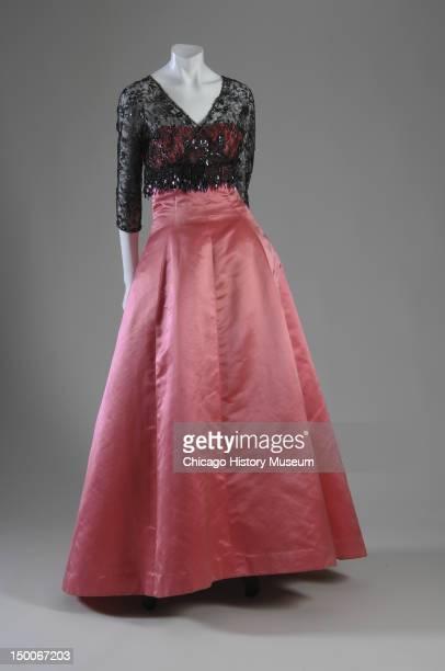 Evening dress and jacket ca 1955 Cotton velvet by Cristobal Balenciaga