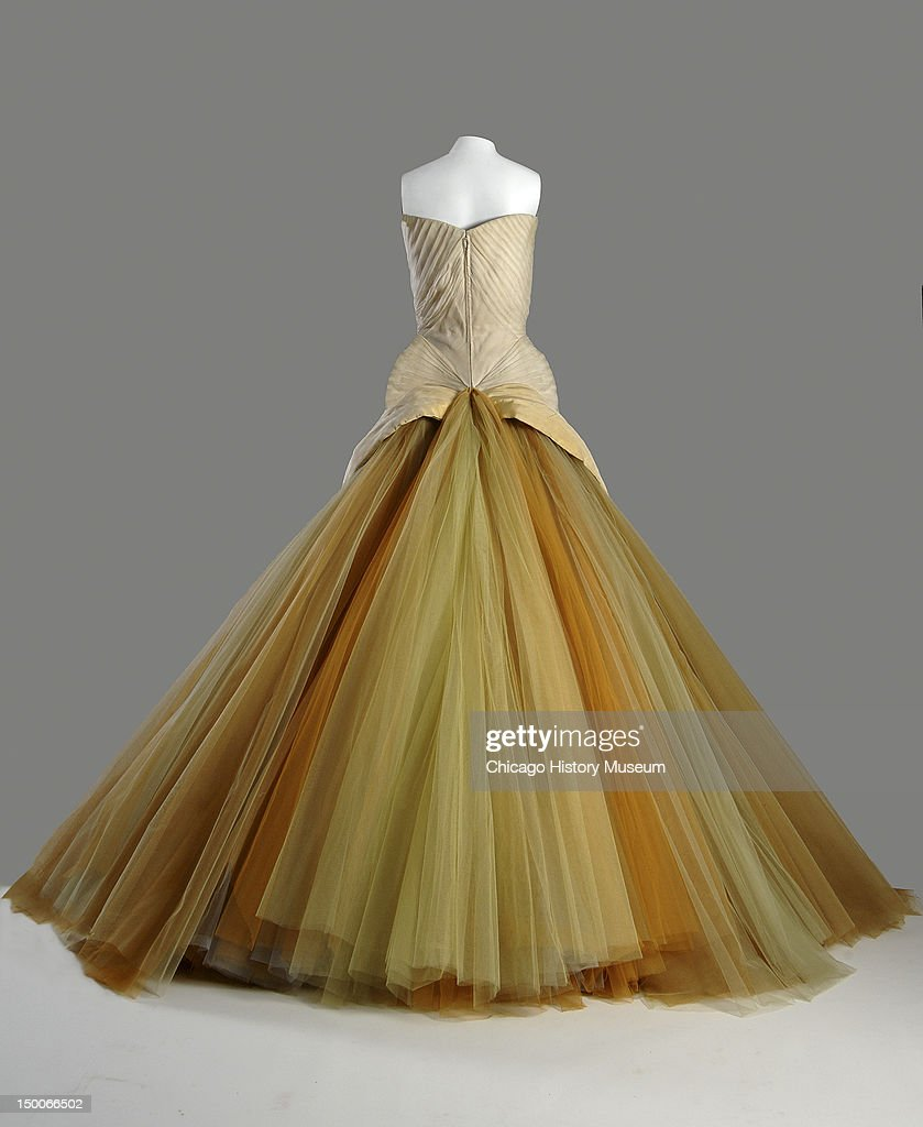 Evening dress Butterfly 1954 Silk chiffon silk faille DuPont nylon tule by Charles James worn by Mrs John V Farwell III nee Margaret Willing Known as...