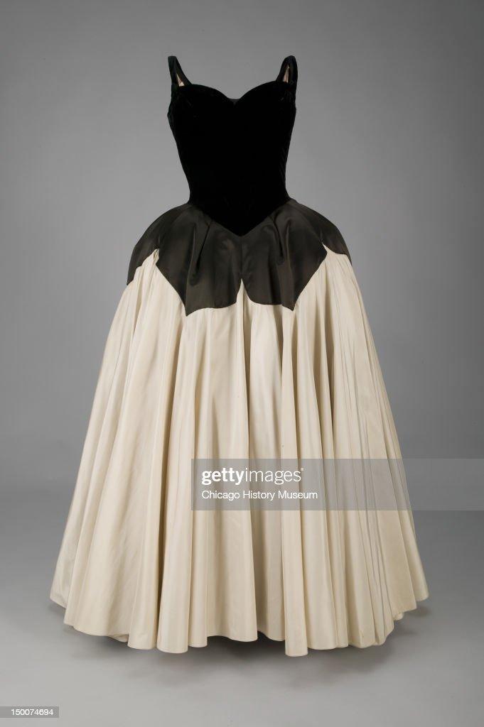 Evening dress Petal 1951 Silk velvet silk satin silk taffeta by Charles James worn by Mrs Harvey Byron Jr nee Kathleen Whitcomb Known as the 'Petal'...