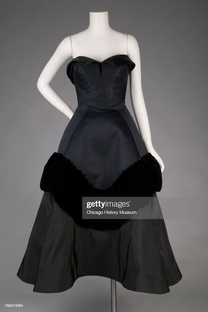 Evening dress Pouff 1952 Silk taffeta silk velvet silk satin by Charles James worn by Mrs Harvey Byron Jr nee Kathleen Whitcomb Known as the 'Pouff'...