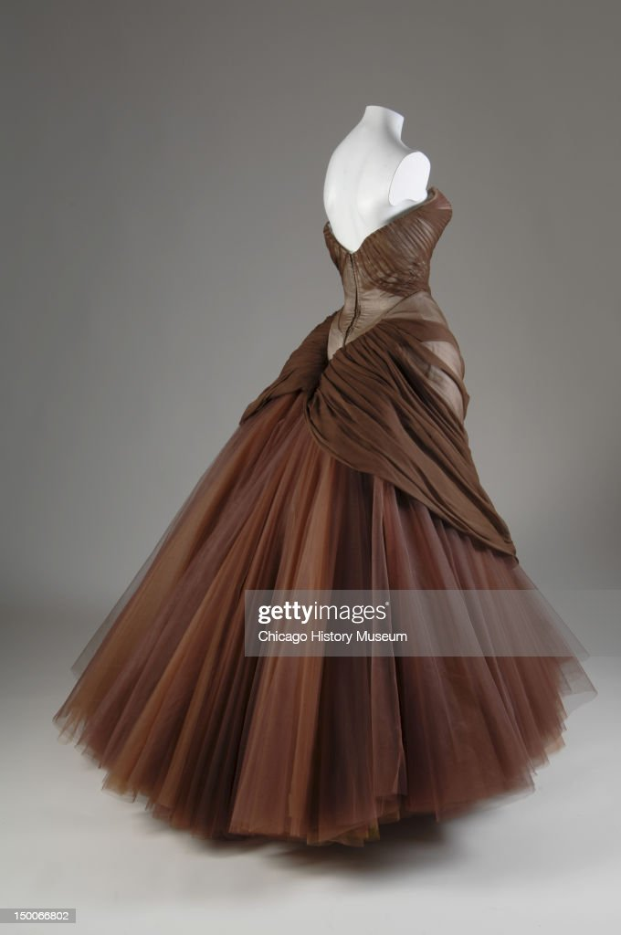 Evening dress Swan 1954 Silk chiffon silk and nylon tulle by Charles James Known as the 'Swan' ballgown this garment became James's most executed...
