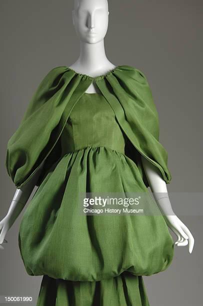 Evening dress with cape 1961 Silk gazaar by Cristobal Balenciaga