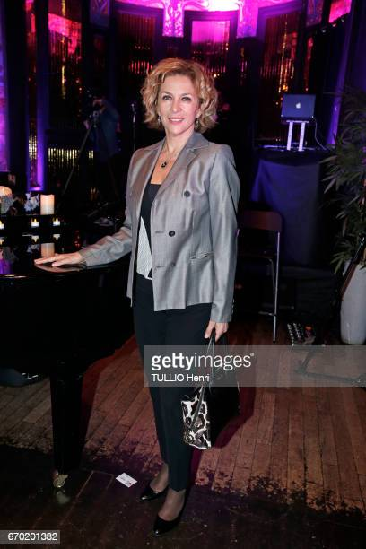 Evening gala for the new perfume Pour un Homme by Caron at the Theatre du Renard in Paris on March 22 2017 the actress Corinne Touzet