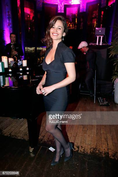 Evening gala for the new perfume Pour un Homme by Caron at the Theatre du Renard in Paris on March 22 2017 the actress Lucie Luca