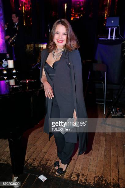 Evening gala for the new perfume Pour un Homme by Caron at the Theatre du Renard in Paris on March 22 2017 Severine Ferrer