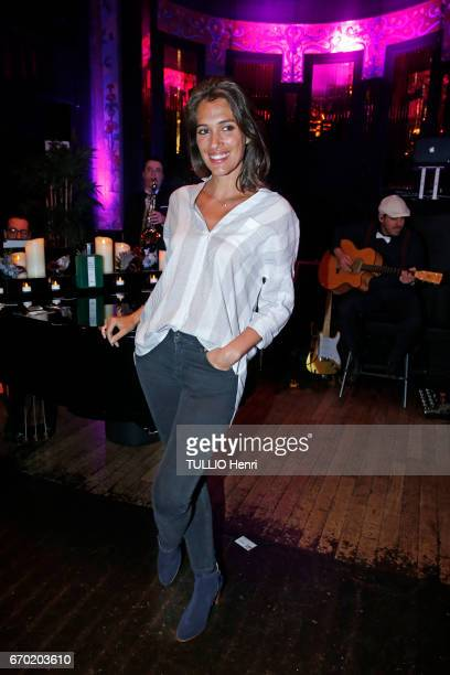 Evening gala for the new perfume Pour un Homme by Caron at the Theatre du Renard in Paris on March 22 2017 Laurie Cholewa