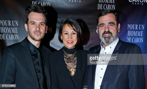 Evening gala for the new perfume Pour un Homme by Caron at the Theatre du Renard in Paris on March 22 2017 Romain Ales director of Caron his son Yahn...
