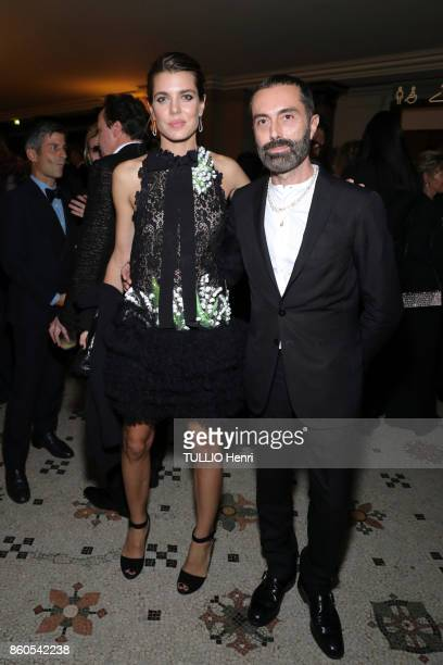 Evening Gala for the opening of the dance season at the Opera Garnier in Paris on September 21 2017 Charlotte Casiraghi princess of Monaco wearing a...