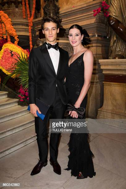 Evening Gala for the opening of the dance season at the Opera Garnier in Paris on September 21 2017 the dancer MarieAgnes Gillot and Hugo Marchand