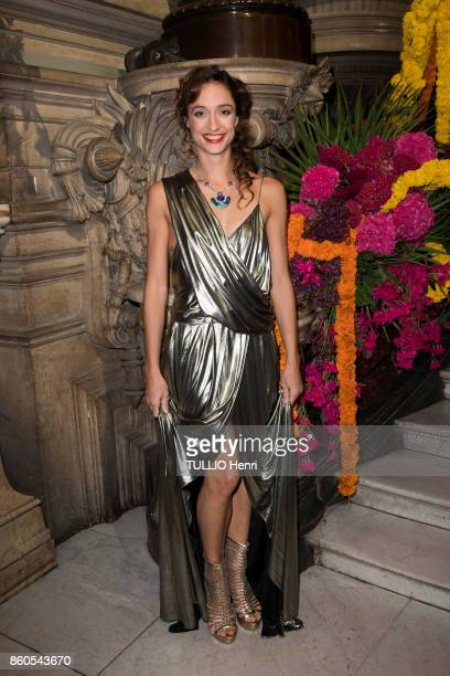 Evening Gala for the opening of the dance season at the Opera Garnier in Paris on September 21 2017 Dorothée Gilbert wearing a Chaumet necklace