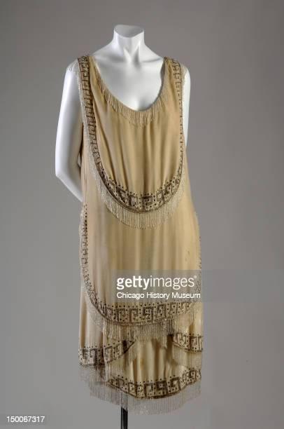 Evening gown 1926 Silk velvet rhinestone glass bead by Gabrielle 'Coco' Chanel