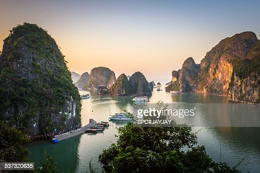 Evening in Ha Long Bay from Sung Sot Cave