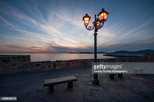 Evening mood in Alghero, Sardinia