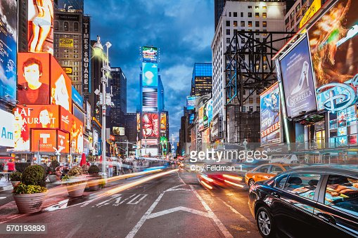 Evening on Times Square , NY