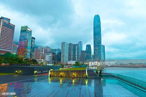Evening Rainy Hong Kong Island, China, Asia