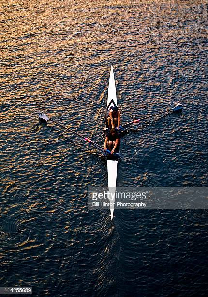 Evening row on lake union,seattle