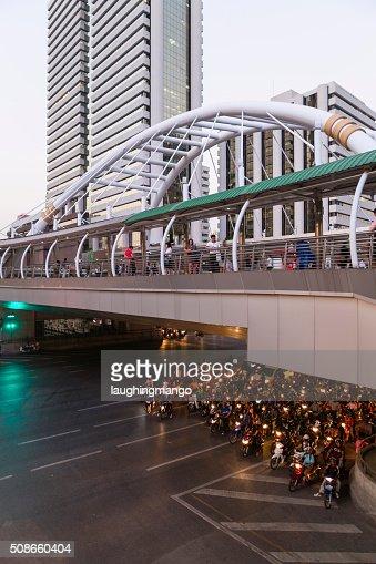 Evening Rush Hour Bangkok Thailand : Stock Photo