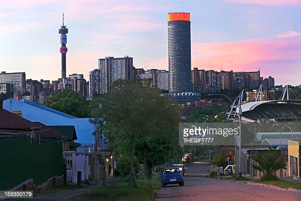 Evening setting of Hillbrow, Johannesburg