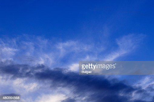 Evening Sky And Clouds : Stock Photo