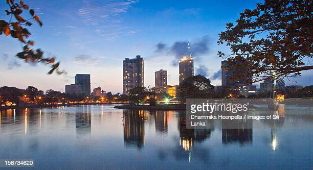 Evening skyline at the Beira Lake