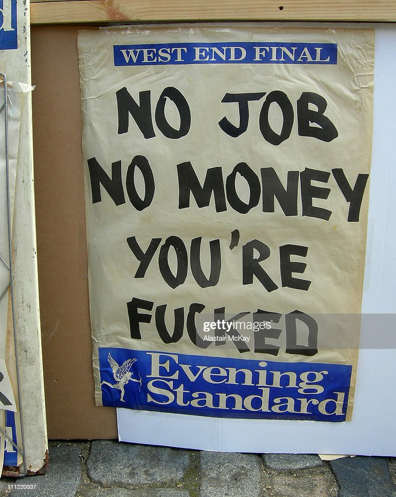Evening Standard billboard, photographed at Art Car Boot Fair 2007, Brick Lane, London