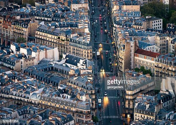 Soir trafic sur les rues de Paris