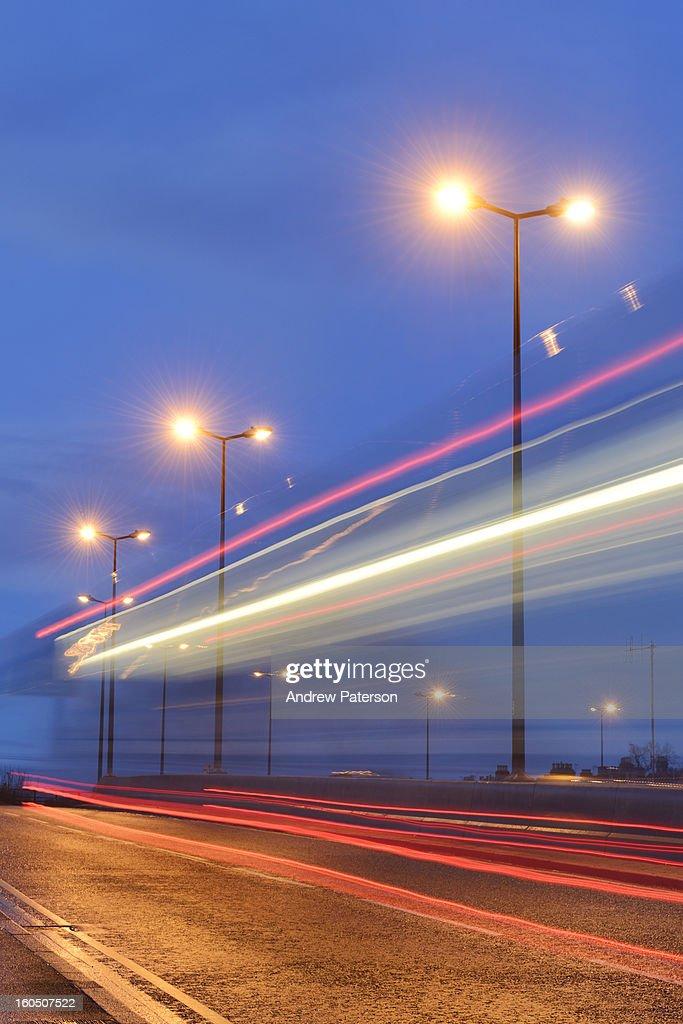 Evening traffic : Stock Photo